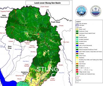 Map – Land cover Stung Sen basin 2005